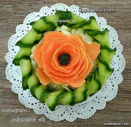 تزیین هویج به شکل گل