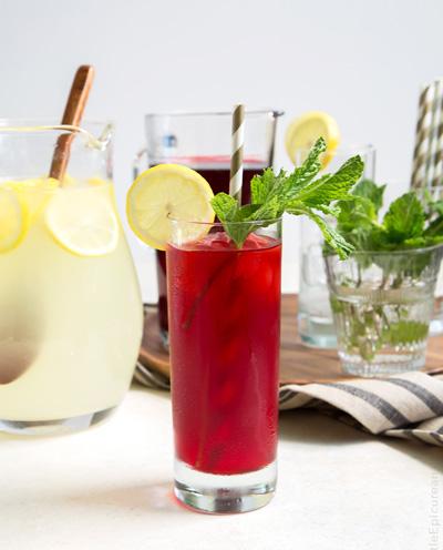 طرز تهیه نوشیدنی های ماه رمضان,آشنایی با روش تهیه لیموناد چای ترش نعنایی