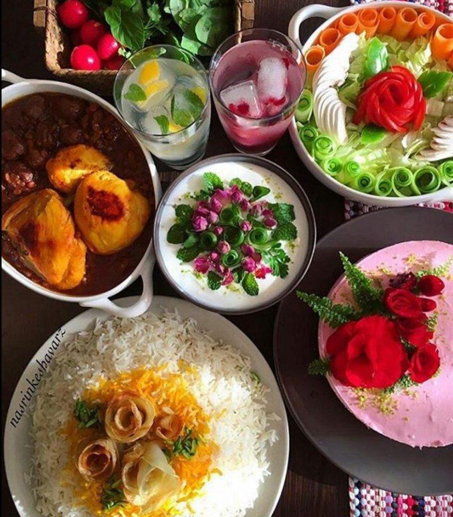 عکس غذا شام