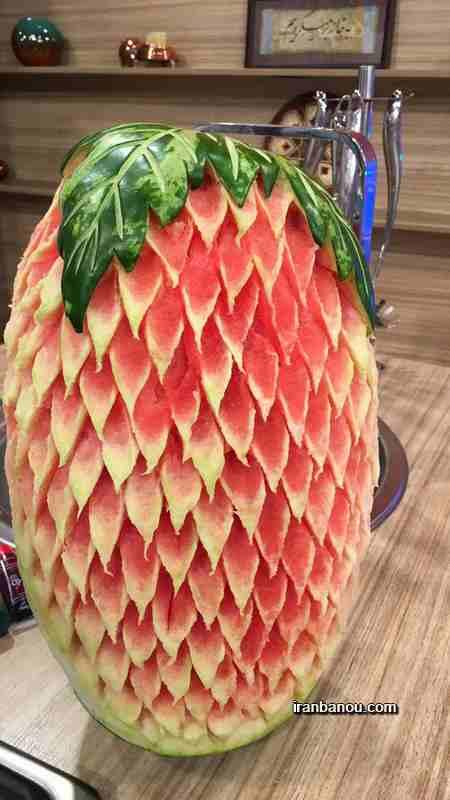 هندوانه آرایی ساده