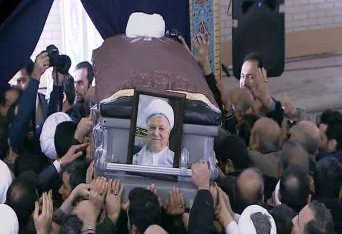 مراسم تدفین هاشمی رفسنجانی