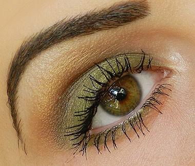 olive green eye makeup tafrih4all 6 آموزش تصویری آرایش چشم