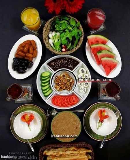 سفره افطاری ماه رمضان
