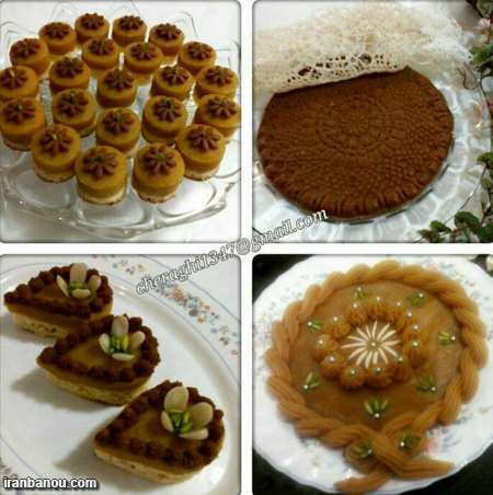 تزیین زولبیا بامیه افطار,سفره افطاری زیبا
