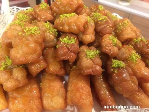 دانلود طرز تهیه زولبیا,بامیه دراز,شیرینی بامیه عربی