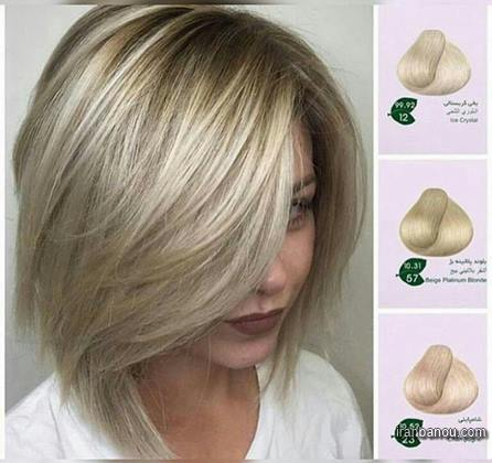 رنگ مو روشن بلوند
