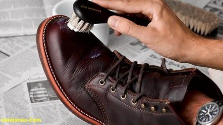 از بین بردن چروک کفش چرم