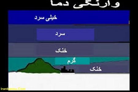 وارونگی هوا در تهران