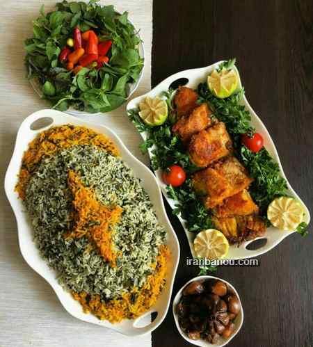 تزیین ماهی پخته شده
