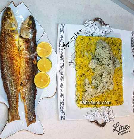تزیین ماهی قزل آلا