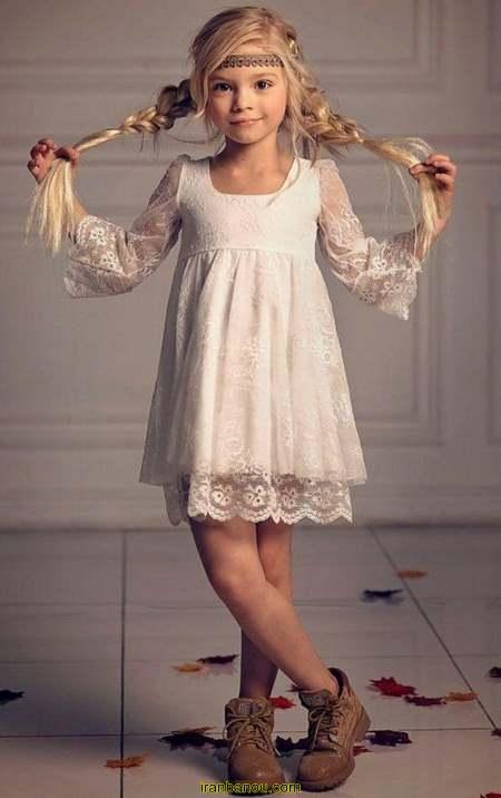 لباس دختر بچه با الگو
