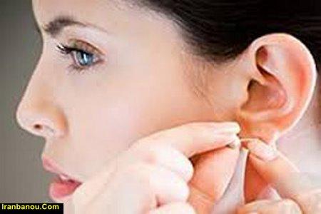 سوراخ کردن گوش در خانه