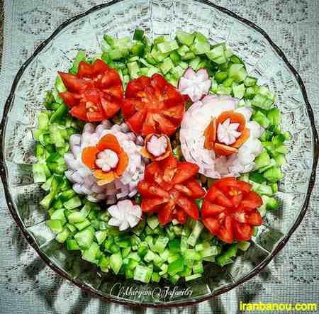 طرز تهیه سالاد شیرازی اصیل