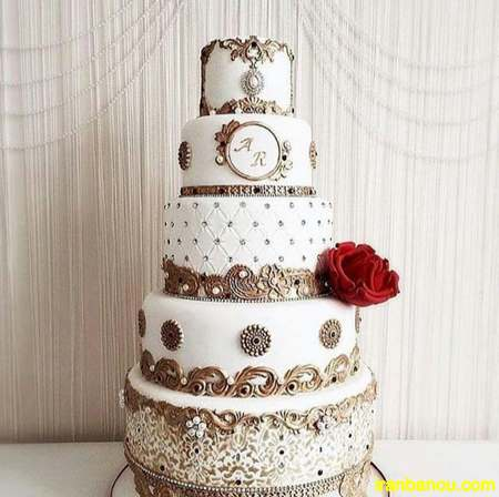 کیک عروسی شیک