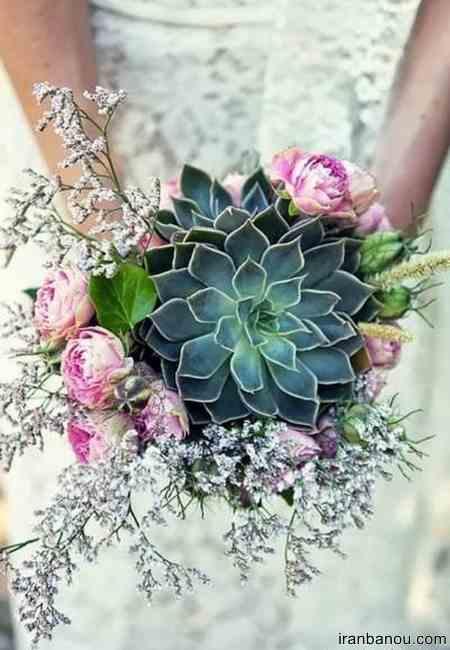 دسته گل ژورنالی اروپایی عروس