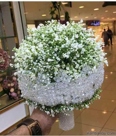 دسته گل عروس کریستالی